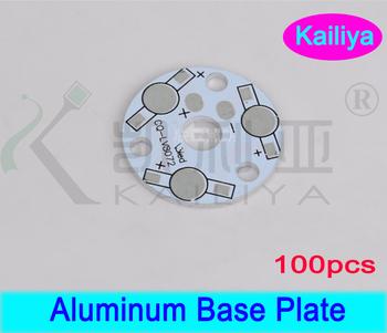 FREE SHIPPING 100pcs/lot 3W 5W 3 LEDs  Heat Sink Plate,LED Beads Circuit Plate,Aluminum Base Plate
