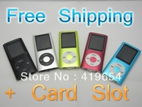 "FREE SHIPPING DROPSHIP! 4th Slim 1.8""LCD flash MP3 MP4 Player FM Radio Player support tf card player 9 colors"