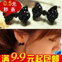 20pairs/lot E2113 bow full rhinestone stud earring new arrival 2013 female stud earring accessories