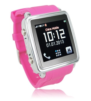 Free Shipping Watch cell Mobile Phone With Bluetooth + FM full touch screen watch mobile phone MQ588