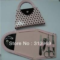 100pcs/lot -- Pink Polka Dot Purse Manicure Set Shower Favors