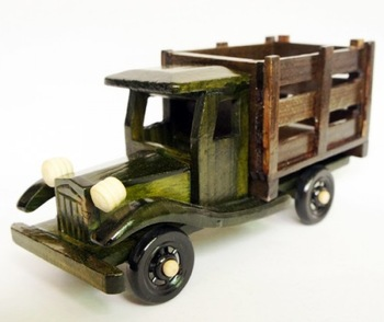 Wooden mould furnishings traditional antique fence truck car model at home decoration gift