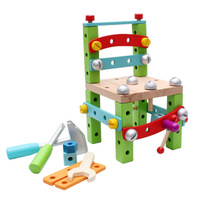 DIY Wooden Toys Multifunctional Nut Assembly Building blocks Toys