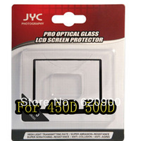 100% GUARANTEE 50 PCS JYC Pro LCD Screen optical GLASS Protector Cover For Canon EOS 450D 500D