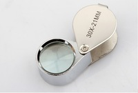 Free Shipping 30x21mm Jewelry Magnifier Jewelry Eye Loupe Loop Foldable Magnifier 120pcs/lot
