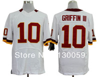 Free Shipping Cheap Washington Football Jerseys #10 Robert GriffinIII White Red Elite Jersey, Size: S-XXXL Mix Order