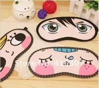 Mix Order Cartoon Eye Mask Sleeping Travel Masks Purify Black Rim Health Many Patterns High Quality HK Post Free Shipping 30 pcs