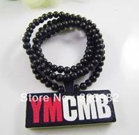 Wholesale 5Pcs/Lot YMCMB Pendant Good Wood Wooden Fashion Dancer Color Hip-Hop Necklace