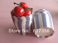 NEW ARRVIAL!!400pcs/lot Purple White Stripe Baking Cups,Cupcake Liners, Candy or Nut Cups-Purple stripe,free shipping