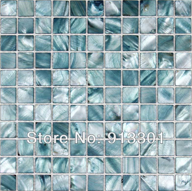 Kitchen backsplash shell tile sheets painted colorful seashell style mosaic bathroom walls kitchen designs mother of pearl tile(China (Mainland))