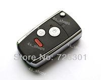 3 Buttons Remodel Case Uncut Flip Folding Remote Key Shell Fit For Honda Pilot Fit Odyssey CR-V Ridgeline Switchblade Fob