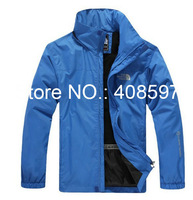 Free Shipping 2013 New Outdoor Men's Mountaineering Camping Thin Windproof Zipper Coats,Male Sports Waterproof Face Jacket