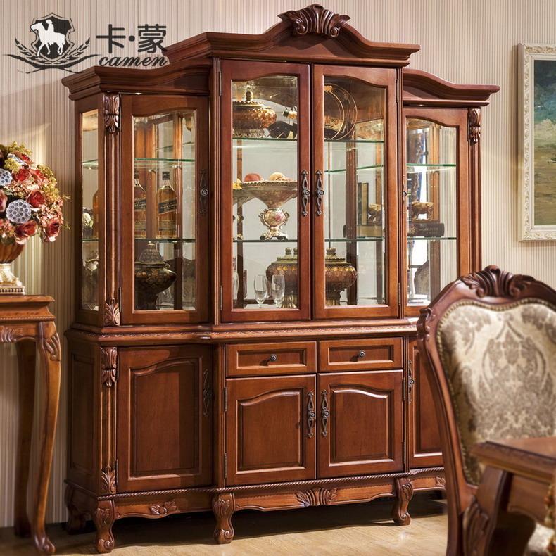 decoratie kabinet grote wijnkoeler antieke retro afwerking eetkamer ...