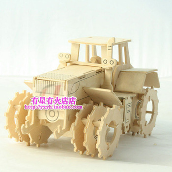 Wool puzzle diy 3d puzzle handmade toy assembling farm vehicle model tractor