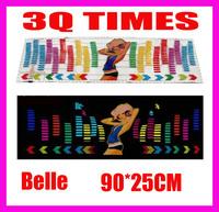 90*25CM Car Decorative Lights Cold Light Film EL sheet Voice lights / Music Lamp car equalizer  FREE SHIPPING