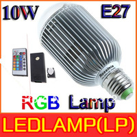 Low price New 2013 RGB LED Lamp 10W E27 Light Bulb Lamp with Remote Control High Power Color Changing LED Bulb Lamp