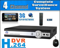 1pcs/Lot Home 4 CH Channel DVR Camera Security System & H.264 4 CIF Real time 4 CH DVR Camera Security System