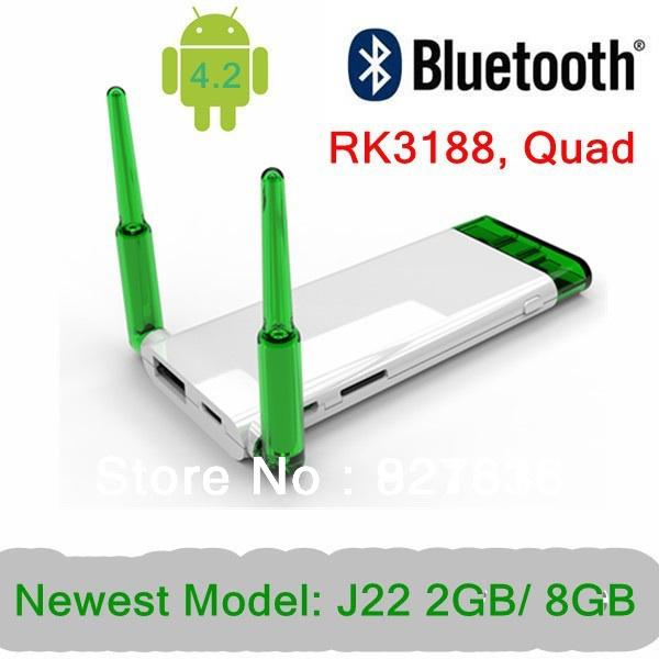 NEW J22 Quad core RK3188 Android Mini PC IPTV Cortex A9 1.8GHz 2GB RAM 8GB Nand Flash Dual WIFi antenna free shipping(China (Mainland))