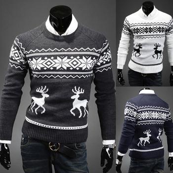 2013 новый мужской круглый воротник , свитер необходимо Рождественский олень свитер пуловер