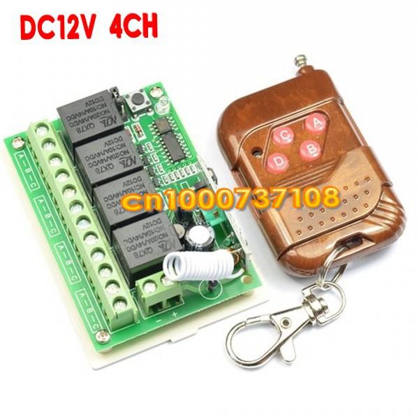 Дистанционный выключатель AK DC12V 4CH 433 AK-RK04S-12-A дистанционный выключатель dc12v 4