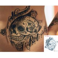 "Waterproof High Quality Temporary Tattoo Sticker ""Skull"" -11.5*13 cm"