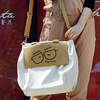 2013 cartoon young girl bag women's casual bag fashion color block one shoulder handbag cross-body bags large