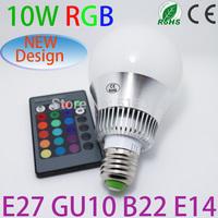2pcs/lot 2013 New style Low price AC 100-240V RGB LED Lamp 3W 10W E27 led Bulb Lamp with Remote Control led lighting