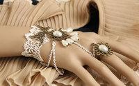 Clearance Vintage white lace bridal bracelet wristband wristlet jewelry jewelry trade Lolita court balls WS-69
