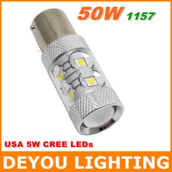 Hot Sale  CREE 50W 1157 BAY15D P21/5W  LED Brake Light  12V 24V car tail light bulb car lighting