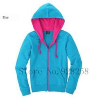2013 New Fashion Korea Women's Zip Up Long Top Hoodie Coat Jacket Sweatshirt Outerwear Fleece