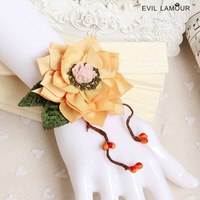 Min.order is $15 (mix)Taobao Hot Sen Department of female flowers retro wrist bracelet handmade original jewelry gift bracelet W