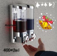 Slider anmon double soap dispenser wall soap dispenser soap box soap bottle hand sanitizer christmas