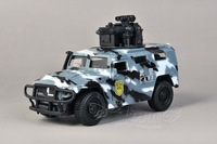 Alloy car models WARRIOR acoustooptical car toy new style off-road 6/7 police car cool