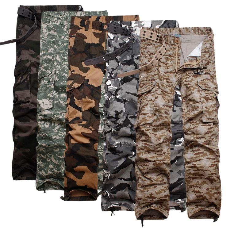 Camo Cargo Pants For Men Slim Camo Cargo Pants