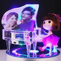 Mp4 crystal piano music box music box birthday gift diy gift girls day gift