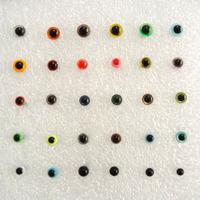 Merino wool felt multicolour diy dolls transparent black bean animal eyes poke fun  (30 pairs per pack) Size optional
