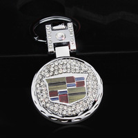 Car male quality keychain key chain key ring keychain cadillac car double faced with diamond
