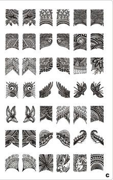 Wholesales 4PCS/LOT NEW A-T Series XL Medium Size  Stamp nail art Stamping Image Plate Print Nail Art Large BIG Template DIY