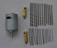 Small PCB Drill Press Drilling with 0.8~1.5mm, 2.0~2.5mm Drill 12V