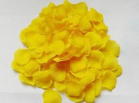 15bags Sunshine Yellow Silk Rose Petals Fabric Rose Petal Wedding Decoration Favor Hand Throwing Flowers 1500PCS 10PP/bag