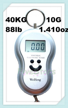 Free Shipping  Multi function Digital  Luggage Scales Electronic Fat Hanging Mini Portable Scales 40kg, 88lb, 1410oz