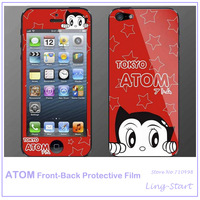 Newly Fashion LCD Screen Protector Cover Film For iPhone5;Atom Front & Back LCD Screen Protective Film Wholesale & Retail