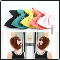 Min-order 10US,Free Shipping,Elegant Korean Wave Point Cloth Art Big Bowknot Hairband Headband Hairpin Bow