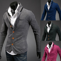Korean men Slim collar small suit collar mixed colors free shipping