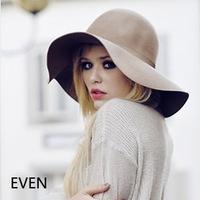 Fashion audrey hepburn woolen bow large brim hat brim wave French female hat lady's fashion accessories