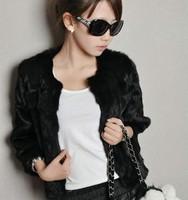 Free shipping Fur coat medium-long  rabbit fur outerwear short design female fur overcoat faux fur coat