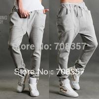 Free shipping Unique Three-Dimensional Pocket Jazz Harem Long Pants Hen'sTrousers Cotton Casual Sports Pants M,L,XL