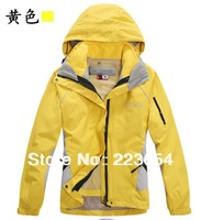 High quality 2in1 Female Brand Outdoor Double Layer Windproof Waterproof Hiking Skiing Jacket