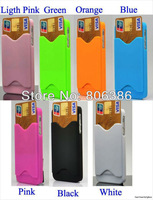 Wholesale 200pcs/lot New Fashion With Credit Card ID Holder Design Hard Back Cover Case For iPhone 5 5G