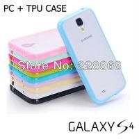 NEW Hybrid TPU PC Transparent Matte Case for Samsung Galaxy S4 S IV i9500, 100pcs/lot
